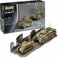 REVELL Char B.1 bis & Renault FT.17 1:76 Tank Model Kit 03278