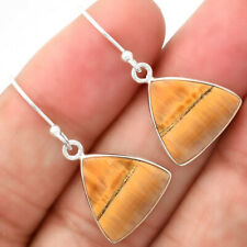 Natural Tiger Bee 925 Sterling Silver Earrings Jewelry E941