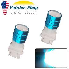 2x White 3157 3057 High Power 7W Tail Brake Stop Backup Reverse LED Light Bulbs