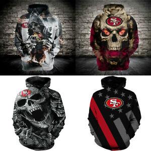 2020 New Hoodies San Francisco 49ers Hooded 3D Print Sweatshirts Pullover Jacket