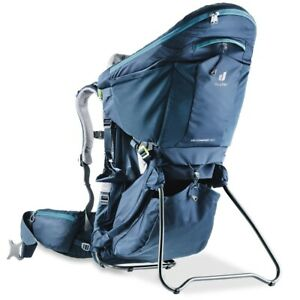 DEUTER Kid Comfort Pro Child Carrier with Sun Roof & Daypack in Midnight