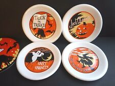 Pottery Barn Halloween Luncheon Plates, Trick or Treat