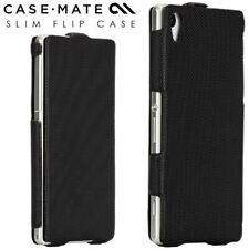 Genuine Case-Mate Slim Flip Case Cover for Sony Xperia Z2 - Black CM031028