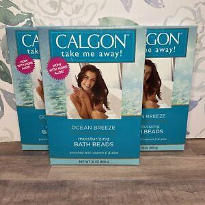 3- Calgon Take Me ocean Breeze Moisturizing Bath Beads-30 Oz. Ea