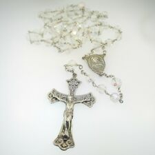 Aurora Borealis Rosary Sterling Silver Vintage