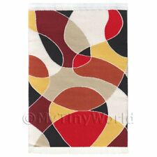 Dolls House Art Deco Small Rectangular Carpet / Rug (adnsr42)