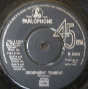 "WINGS - Goodnight Tonight - 7"" Single"