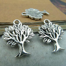 10x Tibetan Silver TREE Pendant Charms Dangle Accessories Jewellery Making S52H