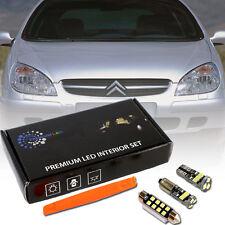 Citroen C5 I II Full LED Interior Premium Kit SMD Bulb 15pcs White Error Free