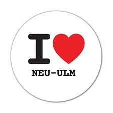 I LOVE Nouveau-ulm-autocollant sticker décalque - 6cm