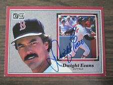 1983 Donruss Action All Star # 2 Dwight Evans Autograph / Signed Card Red Sox