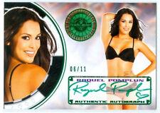 "RAQUEL POMPLUN ""GREEN AUTOGRAPH CARD #06/11"" BENCHWARMER VEGAS BABY 2014"