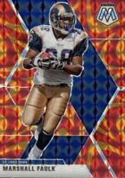 2020 Panini Mosaic Marshall Faulk Orange Reactive #121 St. Louis Rams