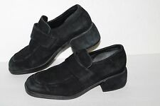 ECCO Suede Loafers, #570223, Black, Leather, Womens US Size 7.5. EU 38