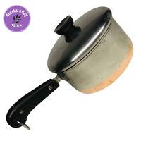 Vintage Revere Ware 1.5 Quart Copper Clad Sauce Pan w/ Lid