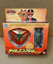 Mirai Sentai Timeranger TimeFire Ver Emblem Badge BANDAI Power Rangers Timeforce