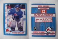2015 SCA Greg Millen Quebec Nordiques goalie never issued produced #d/10