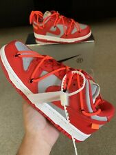 Nike Dunk Low Off-White University Red UK3 US3.5 EU35 1/2 | TRUSTED SELLER