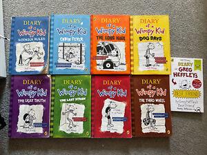 Diary of a Wimpy Kid Bundle 9 Books, 3 Hardbacks & 6 Paperbacks By Jeff Kinney.