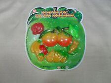 Set of 6 Magnetic Memo Holders/ Refrigerator Magnets Fruit & Vegetable Shape (#5