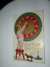 Vintage Postcard New Years Greeting Posted 1909