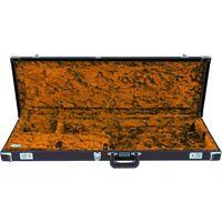 Fender Deluxe Strat®/Tele® Case Left Handed, Black w/ Orange Plush Interior