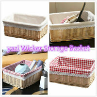 Willow Rattan Collection Home Bathroom Storage Wicker Basket Trunk Gift Hampers