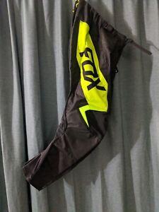 Fox Racing 180 REVN Pants Black Fluorescent Yellow Size 30
