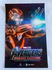 "AVENGERS DAMAGE CONTROL 11""x17"" Original Promo POSTER Virtual Reality VOID Rare"