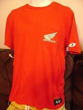 HONDA RACING MX- POCKET- T-SHIRT-MEDIUM- 2 SIDED GRAPHICS by ONE INDUSTRIES.