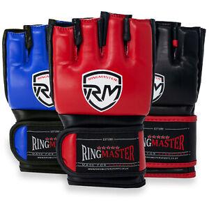 RingMaster MMA Gloves Training Bag Mitt Grappling Muay Thai Punching Martial Art