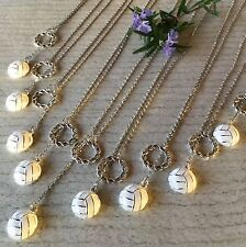 9 x NETBALL Eternity Infinity Hoop Net Lariat Pendant Necklace Coach Team Gifts