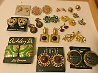 MEGA VTG-NOW Non-Pierced Clip On Earrings ALL WEARABLE Untested SOME BRAND NEW