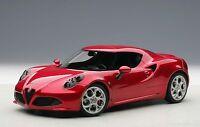 70186 AUTOart 1:18 Alfa Romeo 4C Metallic Red