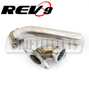 Rev9 38MM 35MM Stainless Wastegate Dump Tube Pipe Elbow Set Actuator Turbo / NA