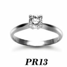 Engagement Solitaire Very Good Cut Round Fine Diamond Rings