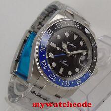40mm BLIGER black dial GMT Ceramic Bezel sapphire glass automatic mens watch 268