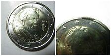 2 euro Pascoli 2012 con escrescenza / esubero di metallo fdc da rotolino
