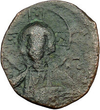 JESUS CHRIST Class A2 Anonymous Ancient 1028AD Byzantine Follis Coin  i34202