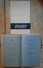 Hotel Jerusalem Intercontinental 4-3-1965 - Menù multi language