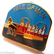 Isle of Man Manx Horse Drawn Tram Flag Pin Badge - T823
