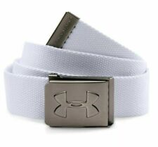 Under Armour Youth Boys Webbing Belt, White/Graphite, One Size, 007
