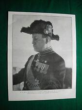 Nel 1924 B. Mussolini nell'uniforme di Primo Ministro + Woodrow Wilson