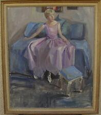Clara Montgomery, Giovane Donna sulla Divano, datato 1930