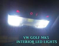 VW GOLF MK5 Interior READING MAP XENON WHITE BULBS COMPLETE LED LIGHTS SET