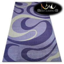 "AMAZING RUGS ""BOLOGNA"" purple, white waves, modern designs carpet, easy to clean"