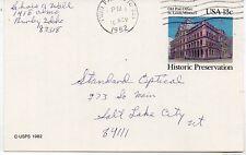 Estados Unidos Edificio Correos St. Louis Entero postal año 1982 (DC-419)