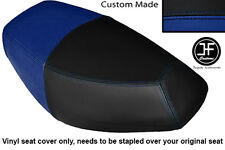 BLACK & ROYAL BLUE VINYL CUSTOM FOR PULSE SCOUT 50 BOATIAN DUAL SEAT COVER ONLY