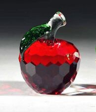 New Crystal World Crystal Red Apple Figurine sm