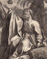 Portrait XVIIIe Élie Le Prophète Elijah  לִיָּהו ēliyahū īlyā Илија пророк 1722
